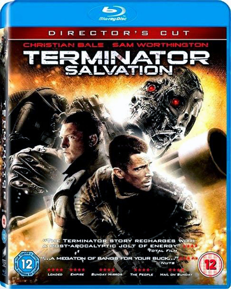 Terminator Salvation Blu-ray DVD Case Box