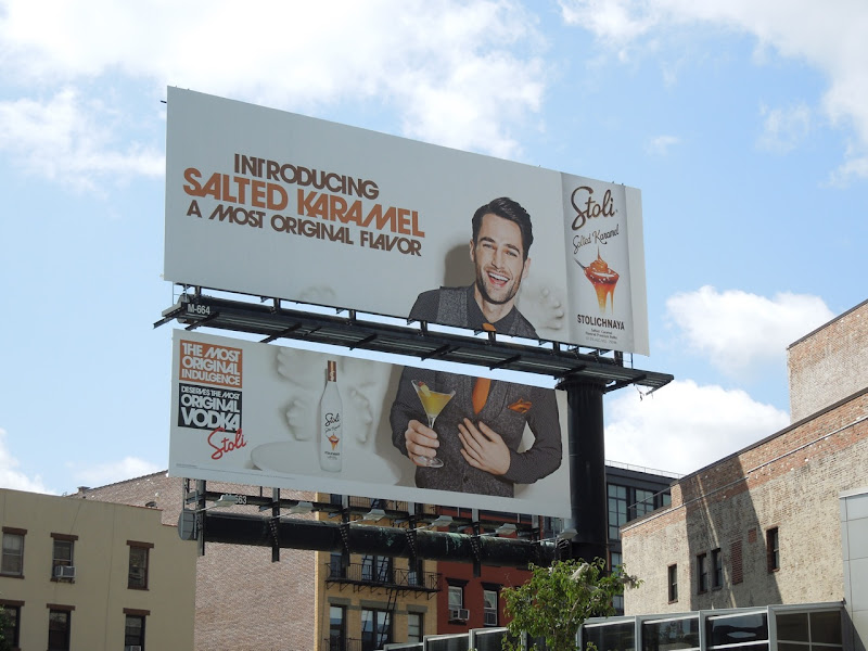 Stoli Salted Karamel Vodka billboard NYC