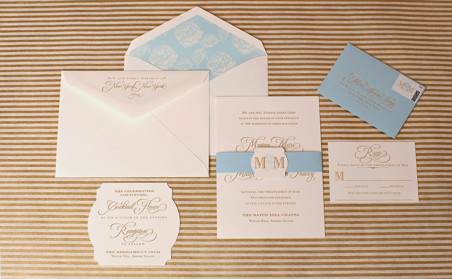 Monogrammed Wedding Invitations Nico And Lala