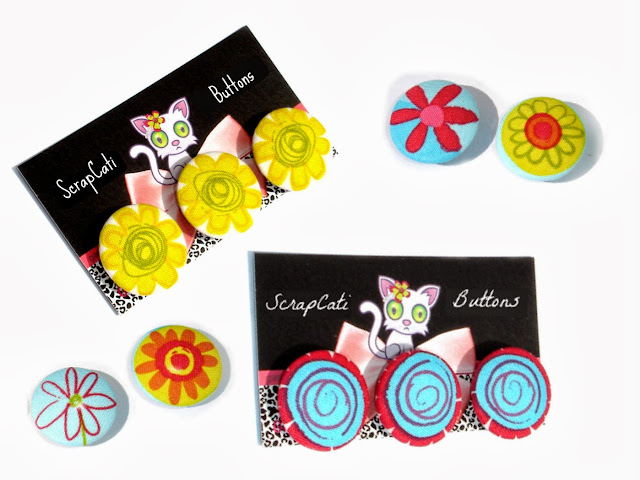 Fabric Buttons Collections by ScrapCati