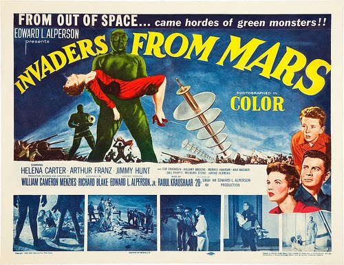 Invaders from Mars Movie Poster Starring Jimmy Hunt, Helena Carter, Arthur Franz, with Morris Ankrum