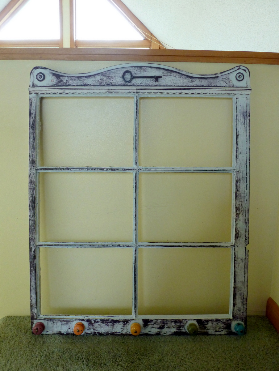 Mitralee recycled window frame with rainbow knobs or for Recycled window frames