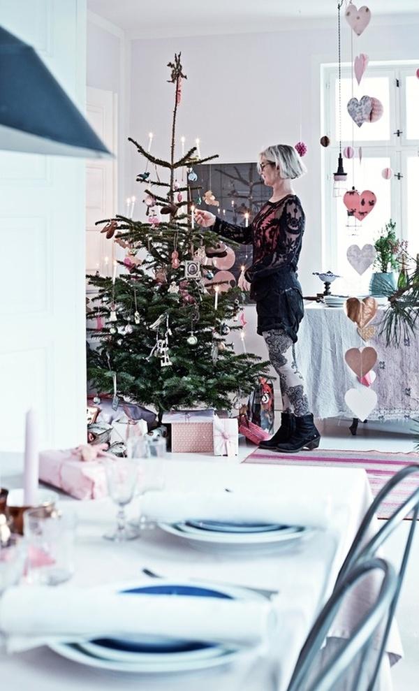 stile scandinavo-shabby chic-natale-decorazioni-colori pastello