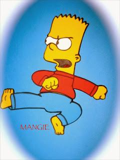 Bart Simpson en goma eva
