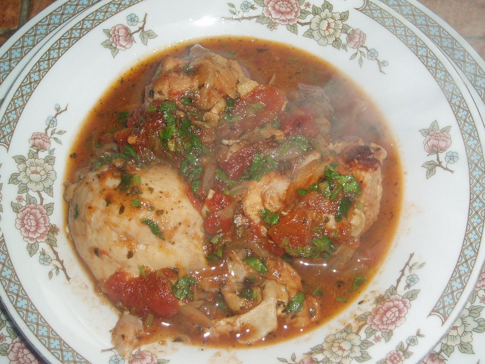 Чахохбили из курицы с базиликом рецепт