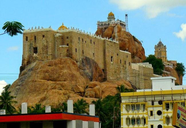 Tiruchirapalli Rock Fort in Tamil Nadu