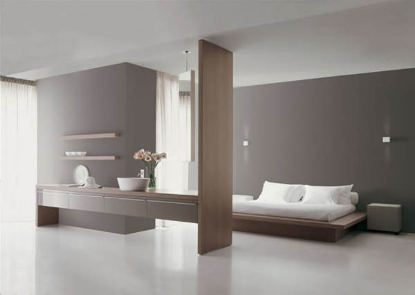 was supported minimalist ambience of natural stone and tropical furniture that was in the bathroom below some examples of minimalist bathroom design - Minimalist Bathroom Design