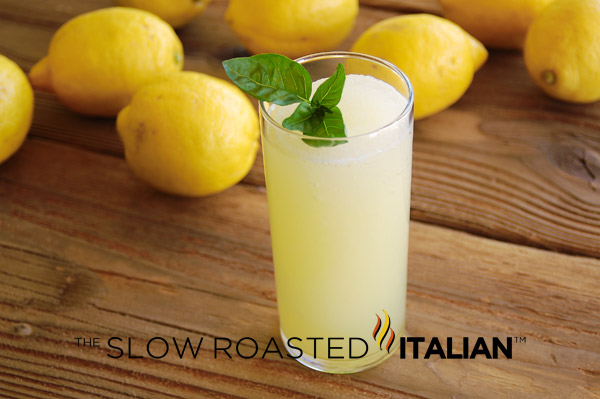 ... perfect lemonade is the simple syrup (basil infused in this drink