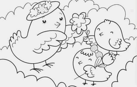 Dibujos Dia de la Madre para Colorear, parte 3