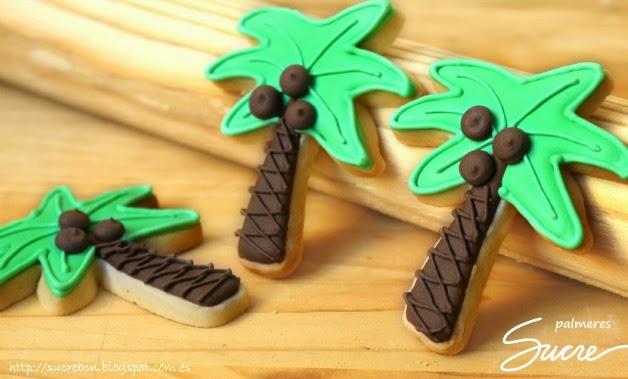 galetes decorades de palmeres, balenes i platges / galletas decoradas de palmeras, ballenas y playas