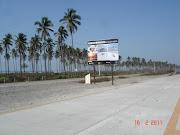 . notre excursion en vélo, voici une pancarte de bienvenue à Playa Azul.