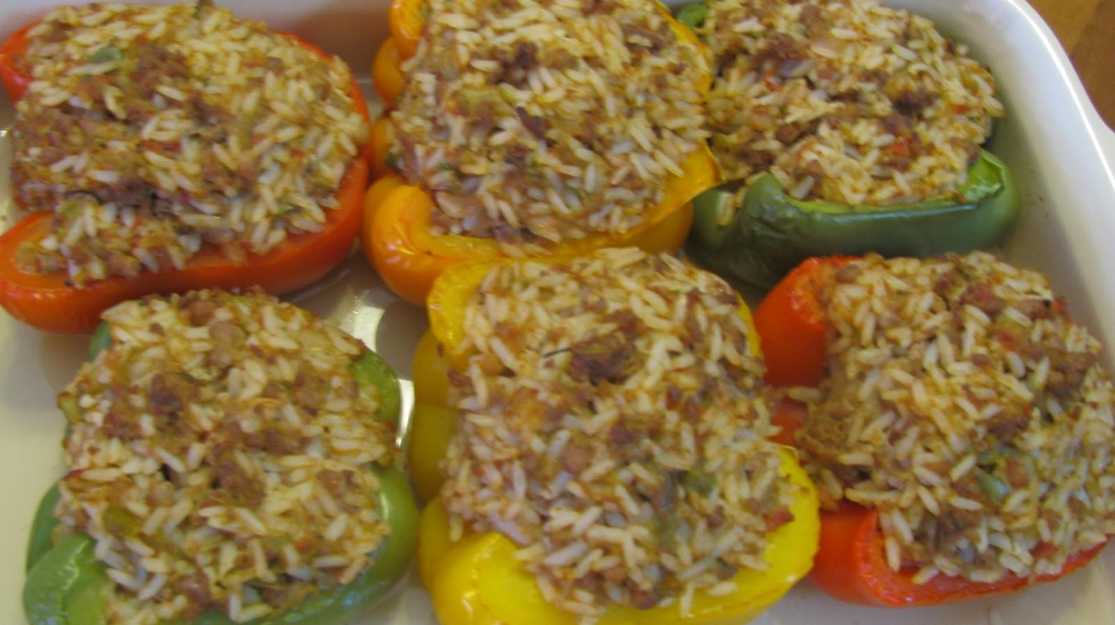 Chez Helene Cookbook: Stuffed Bell Peppers