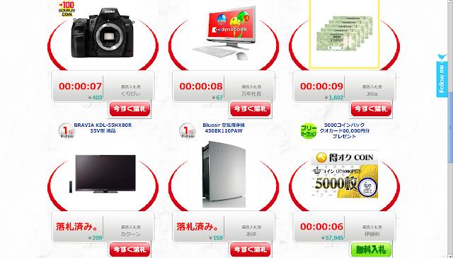 ソニーの55インチ3Dテレビ(KDL-55HX80R)が209円という破格の値段で落札。