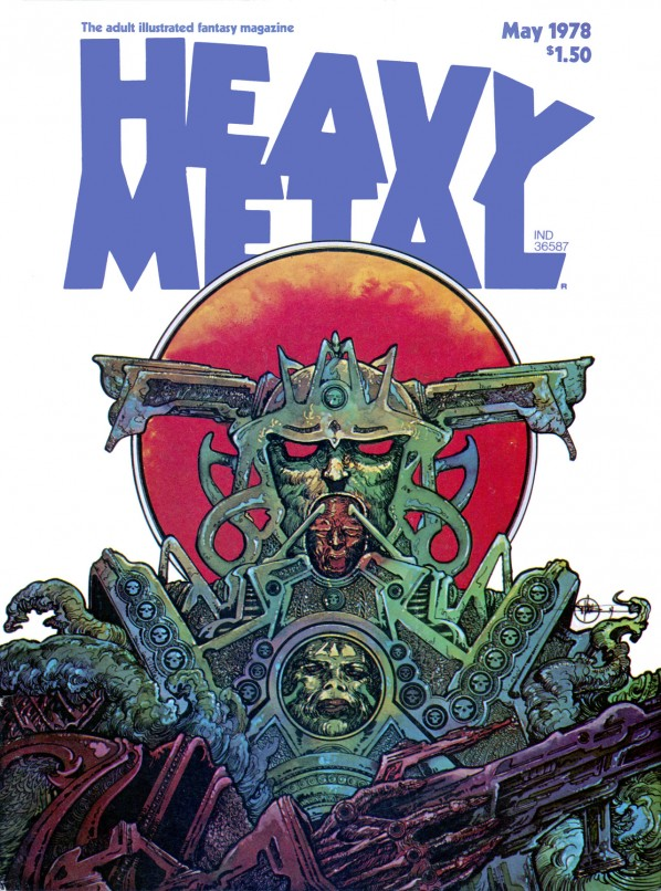 Heavy Metal Magazine Covers from The 1970s - vintage