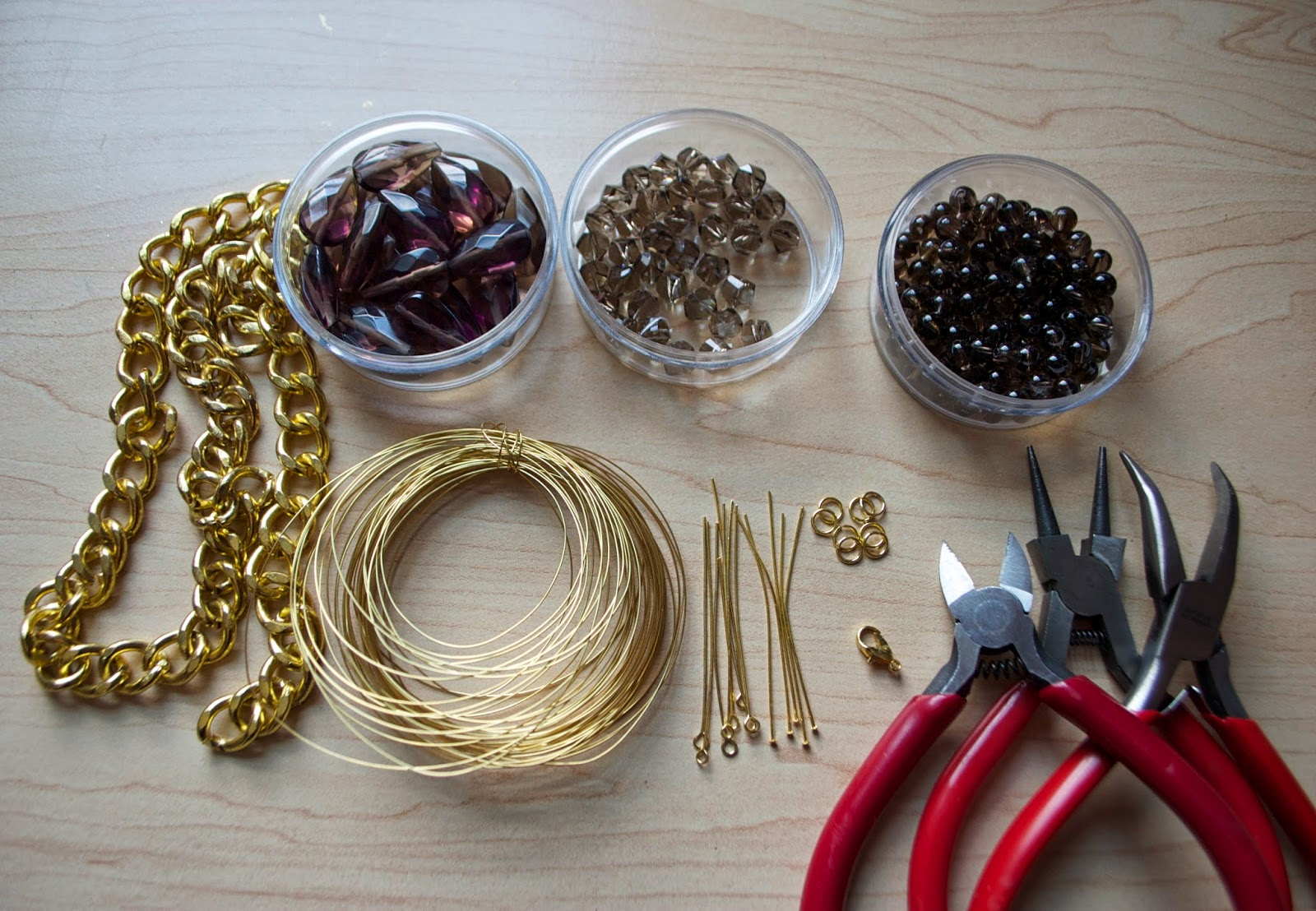 DIY Wire Wrapped Chain Statement Necklace - My Girlish Whims