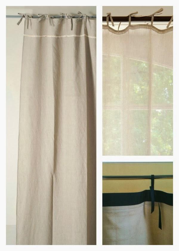 Consigli per la casa e l 39 arredamento montaggio tende for Tende con laccetti