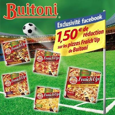 1€50 de réduction immédiate sur les Pizzas Fraîch'Up BUITONI.