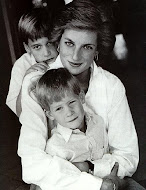 Princess Diana,   Prince William, and Prince Harry