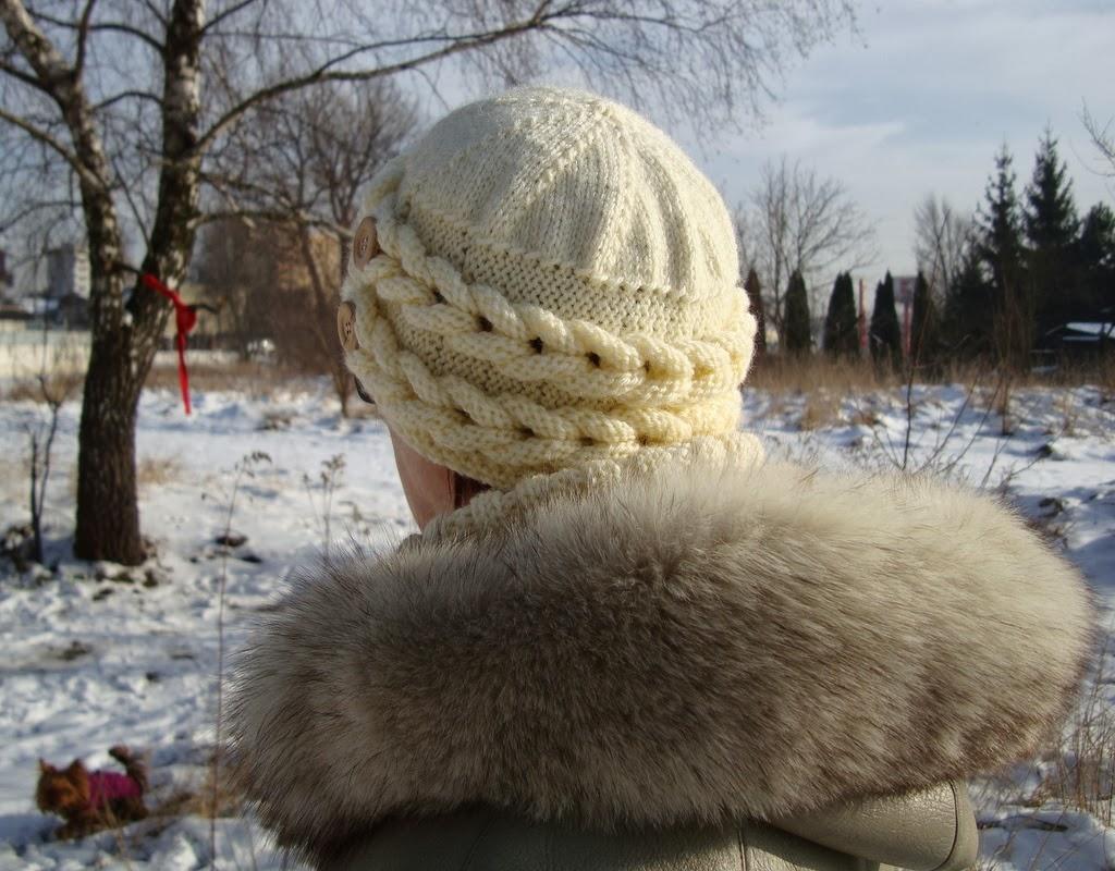 Ciepła czapka na drutach