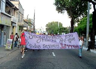 Marcha das Vadias em Fortaleza