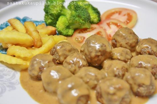 Resepi Meatballs Ikea Homemade Gravy Adlil Rajiah