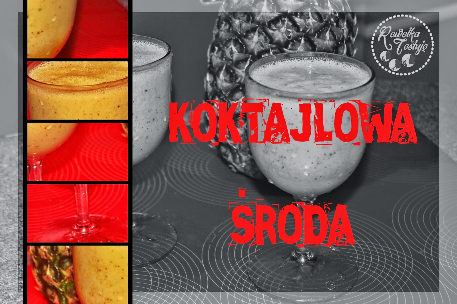 Koktajlowa środa - Ananas, kiwi oraz jogurt czyli niezła bomba witaminowa