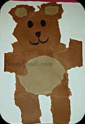 teddy bear kids craft idea