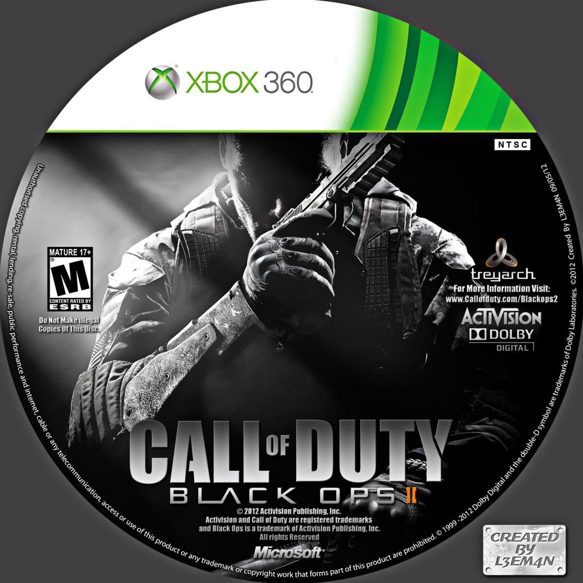 Label Call Of Duty Black Ops II Xbox 360