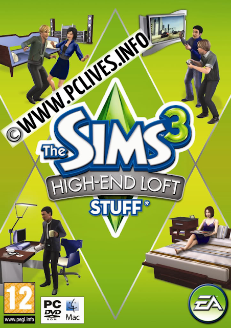 download full version pc game The Sims 3: High-End Loft Stuff 2012