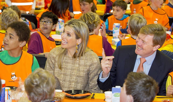 King Willem Alexander of the Netherlands and Queen Maxima of the Netherlands attend the opening of the King's Games 2015 (Koningsspelen 2015) in Leiden
