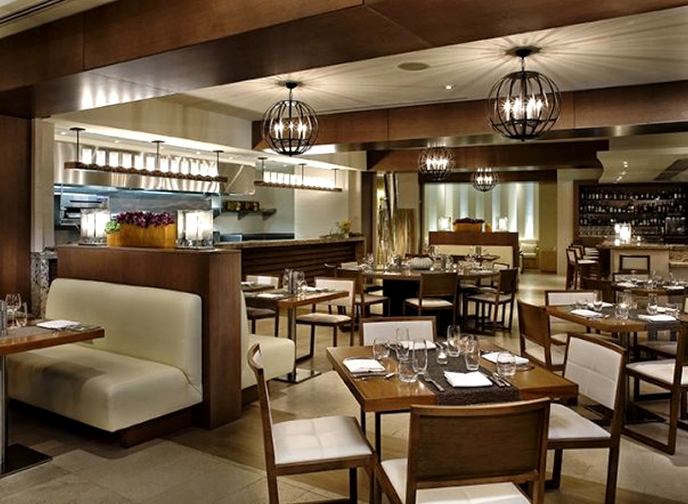 Interior design kitchen restaurant