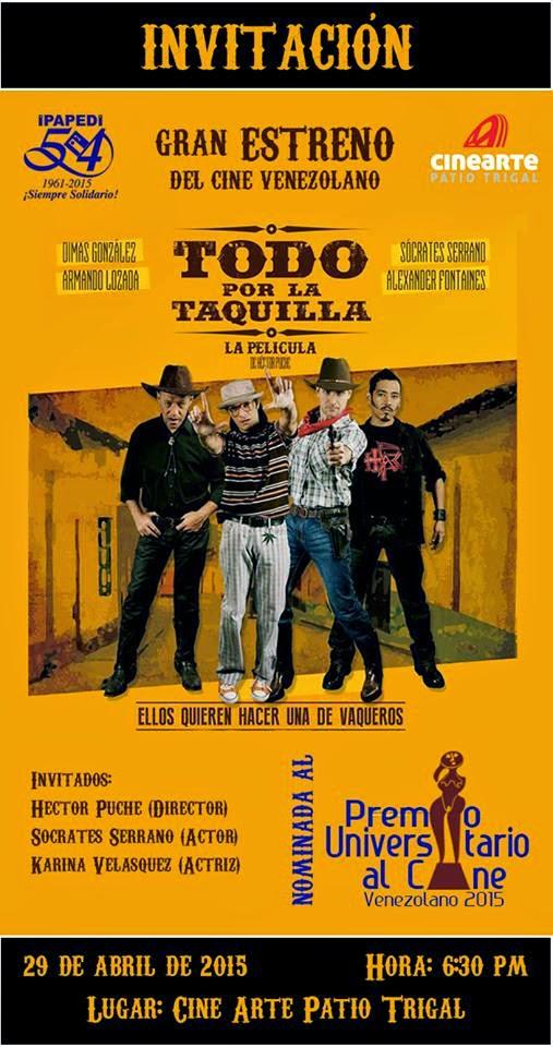 En Preestreno TODO POR LA TAQUILLA en Valencia