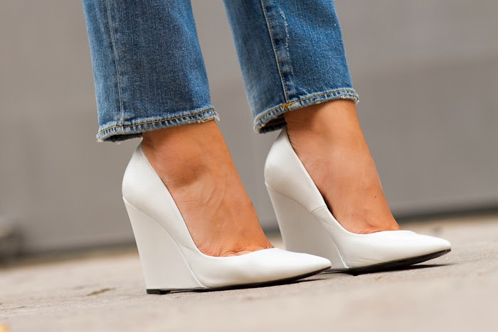 White Pointed wedges by Zara