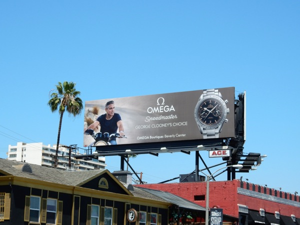 George Clooney Omega Speedmaster watch billboard