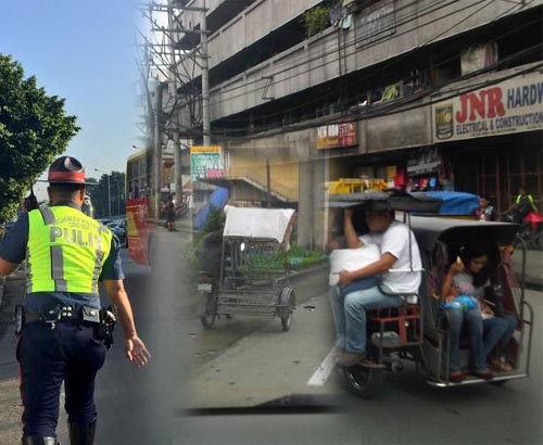 HPG to arrest pedicab tricycle on EDSA