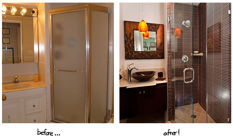 Amazing before and after bathroom renovations for Bathroom renovation before and after