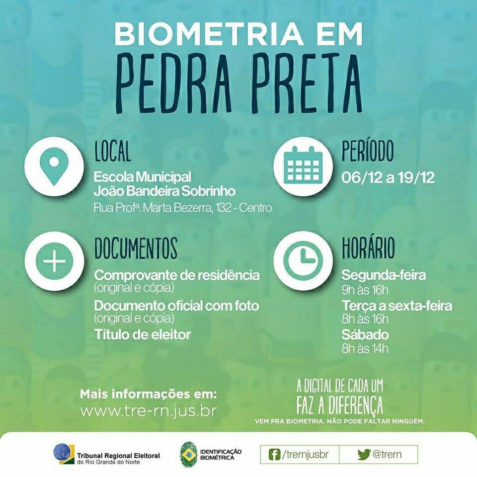 REVISÃO BIOMÉTRICA EM PEDRA PRETA RN