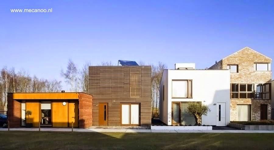 Fachadas de casas residenciales modernas en Holanda