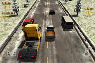 صورة من داخل احد السباقات في اللعبة