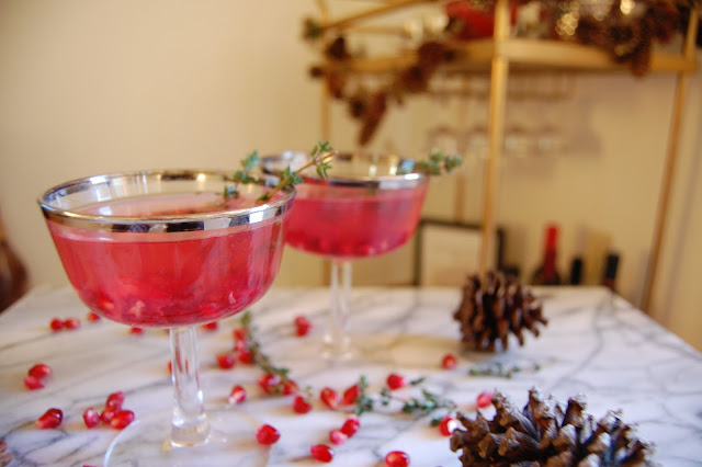 DSC 0067 - Lighter Cranberry Pomegranate Cocktail For The Holidays