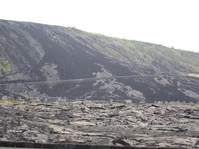 pali with lava flows, Hawaii