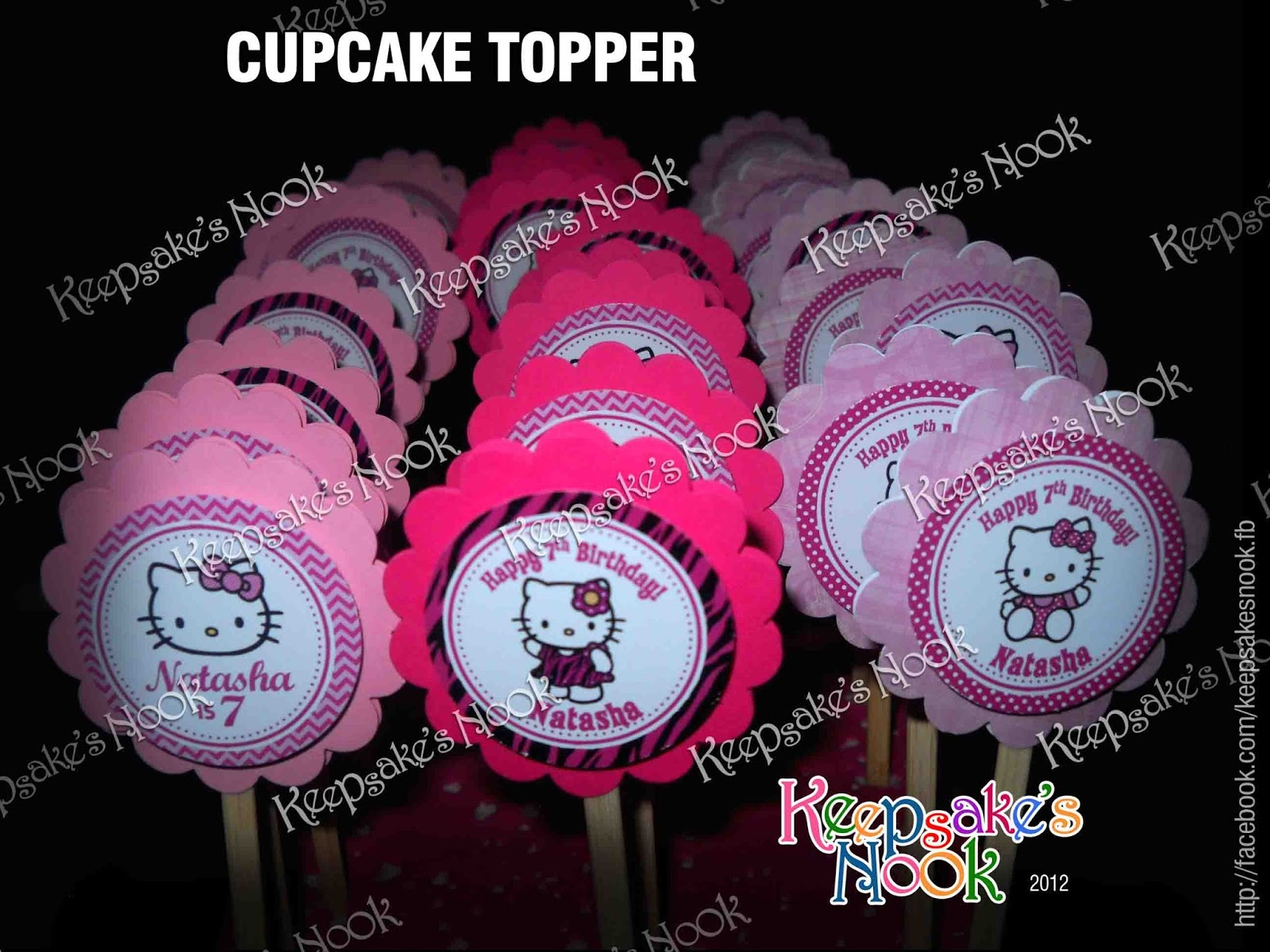 Keepsakes nook hello kitty cupcake toppers hello kitty cupcake toppers maxwellsz