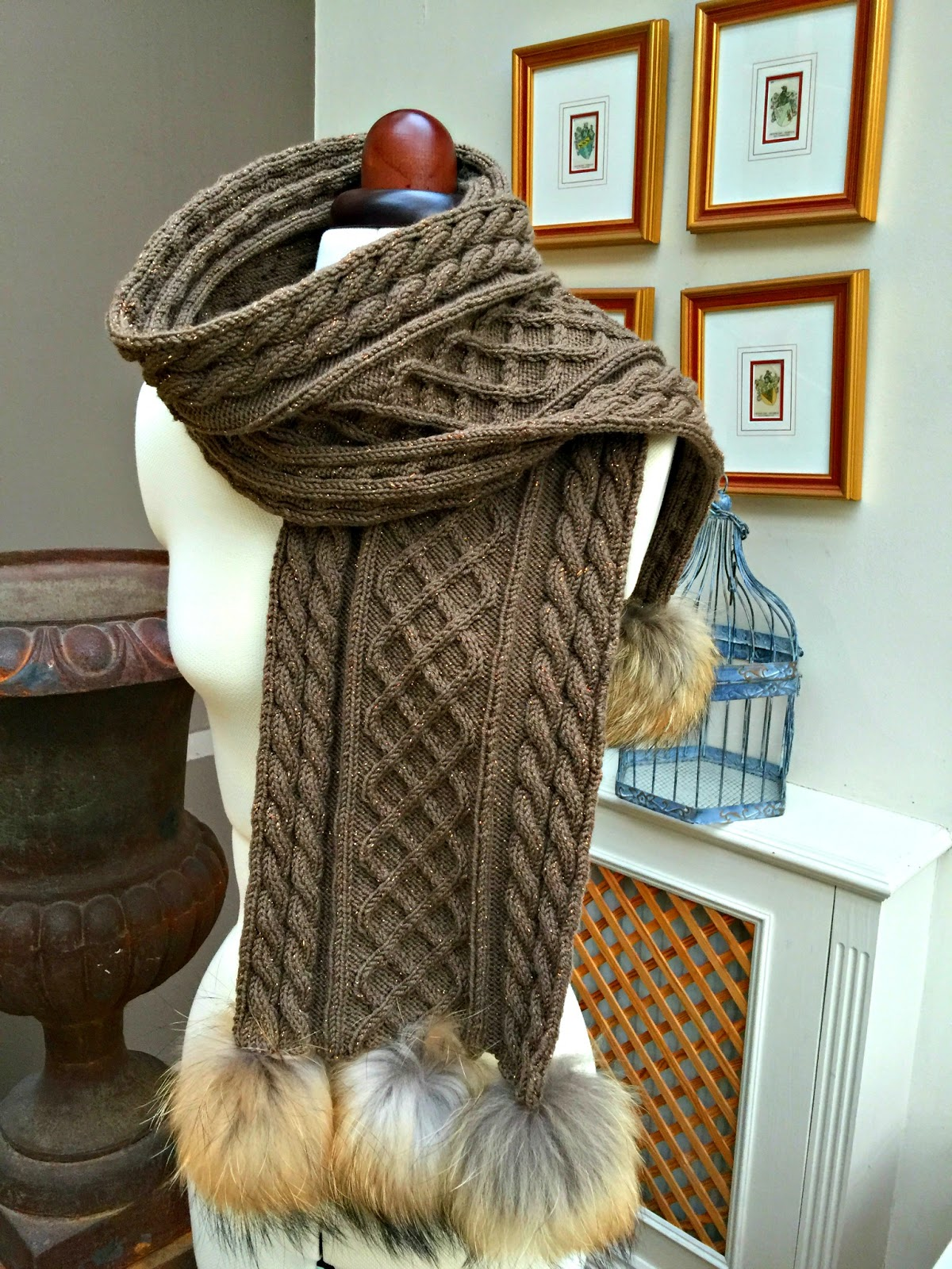 Costa Brava Knitting: Aran scarf