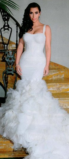 Kim Kardashian Mermaid Wedding Dress Replica 39