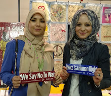Malak and Mnar Muhawesh supporting