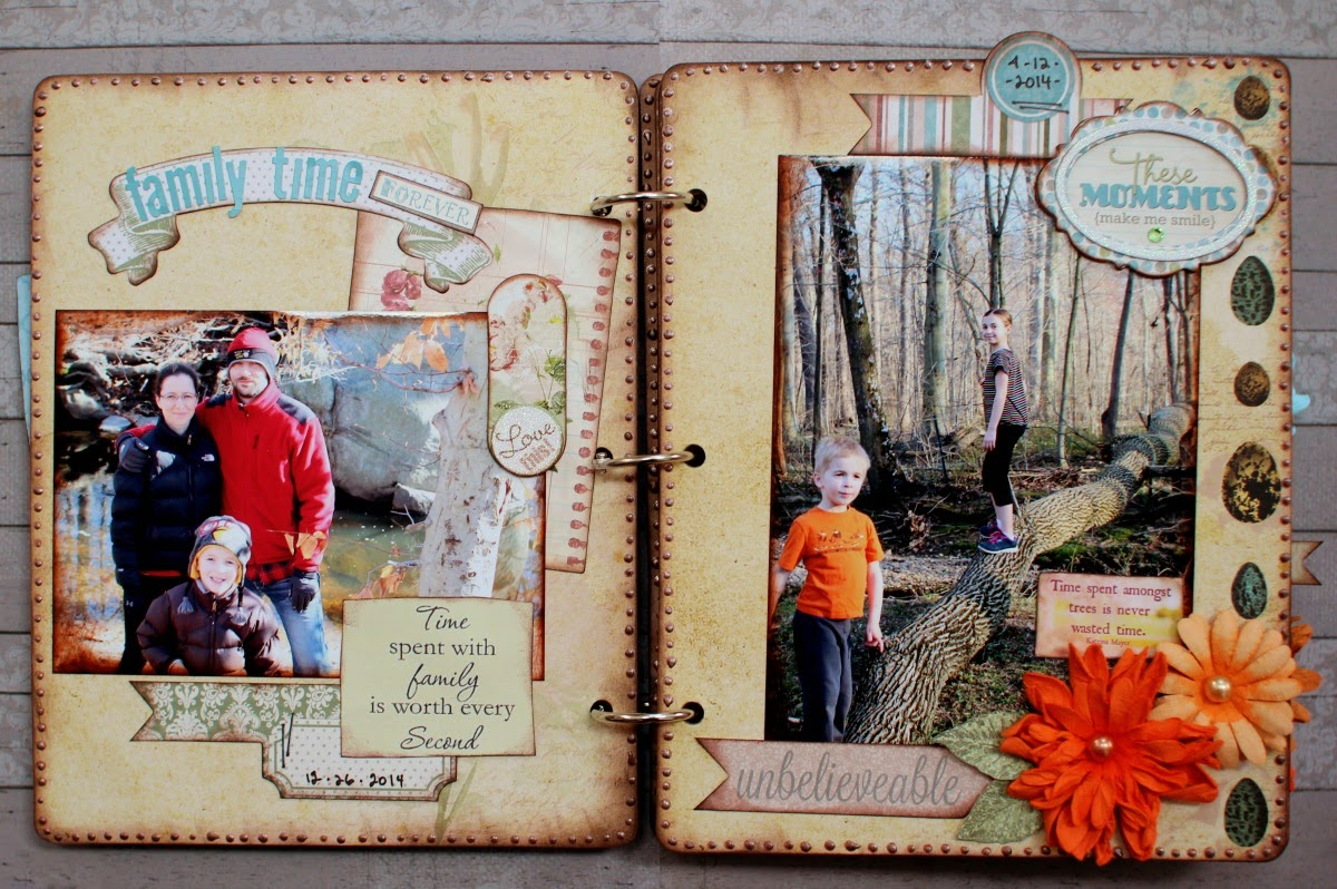 Our Creek Mini Album by Ilene Tell using BoBunny Garden Journal Collection