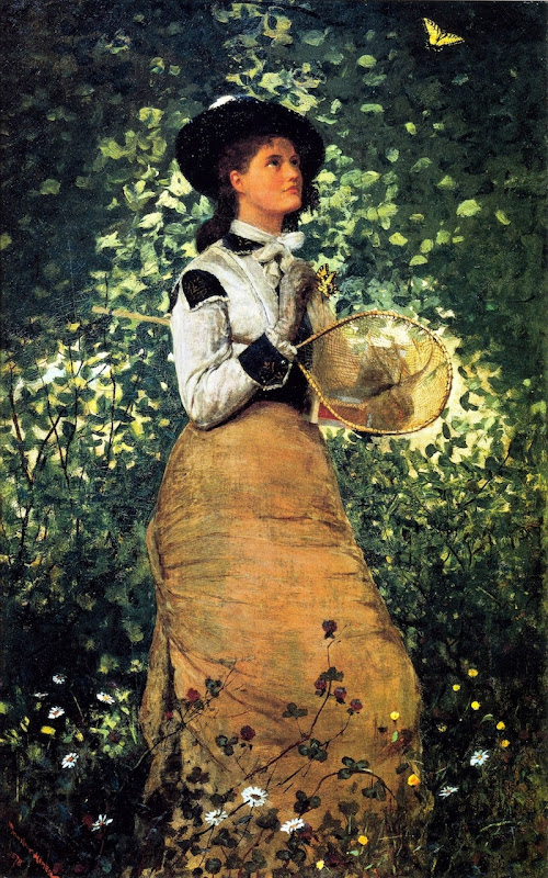 Winslow Homer: The Butterfly Girl (1878)