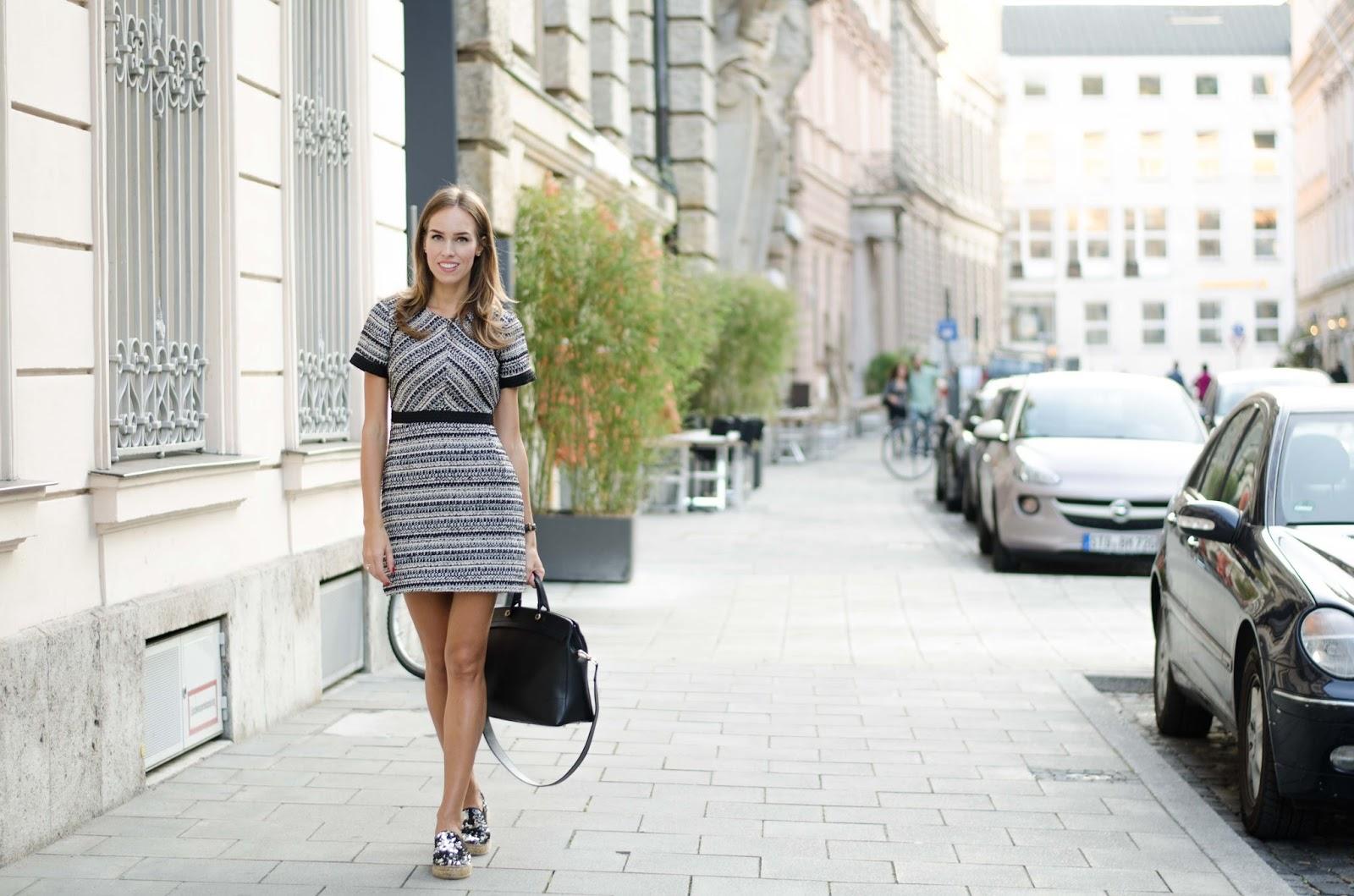 kristjaana mere hm structured mini dress fall outfit