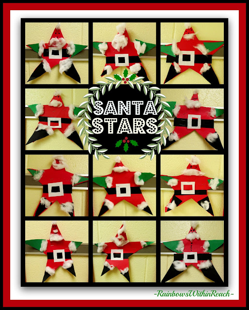 Santa Stars via RainbowsWithinReach @ PreK+K Sharing