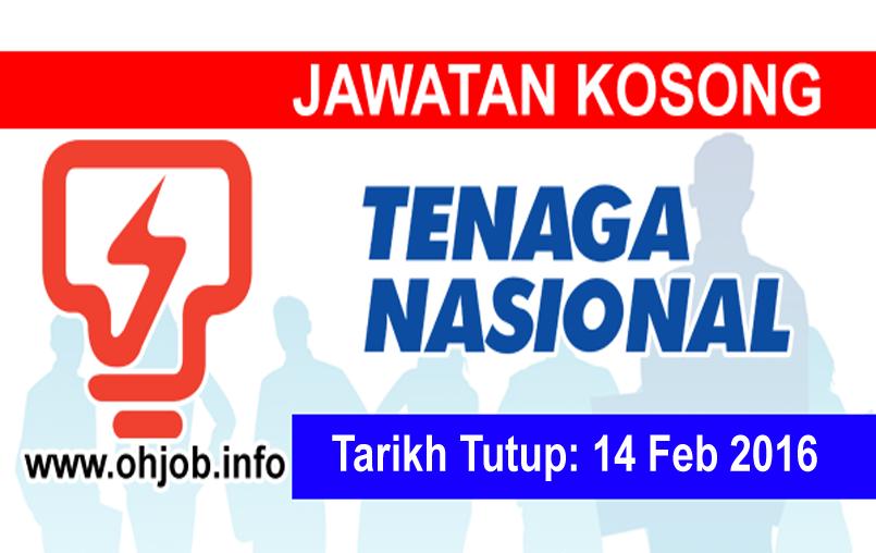 Jawatan Kerja Kosong Tenaga Nasional Berhad (TNB) logo ww.ohjob.info februari 2016